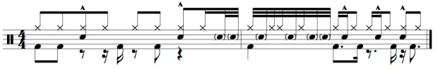 Steve Gadd Paradiddle groove